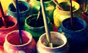 pots de peintures